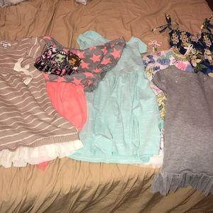 6 dress bundle of girls clothing size 4-6/8